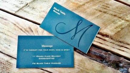 Black Table Massage