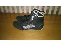 MENS LONSDALE BOXING BOOTS SIZE 6 HARDLY WORN EXCELLENT CONDITION