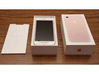 BRAND NEW IPHONE 7 32GB ROSE GOLD ON O2 NETWORK