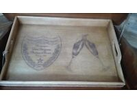 Dom Perignon Tray Restored and Engraved UNIQUE