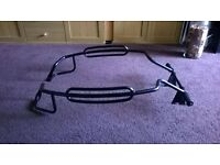 Black powder coated crash bars. Suit Vespa PX125/LML