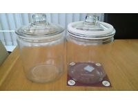 glass cookie jars