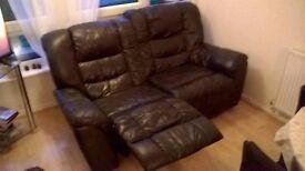 Amazing 2 seater leather sofa !