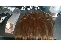 """18"""" MochaBrown Full head, clip in, human hair extensions"""
