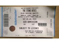 Stone Roses ticket, Marlay Park Dublin, 9th of July