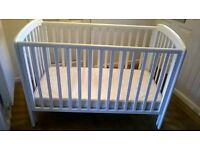 John Lewis Childrens cot with mattress - Excellent condition