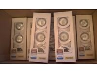 NEW IN BOX white Down Lights with bulbs £5 per box (Halogen, 3 down light in each box)