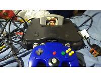 Nintendo 64 console complete with goldeneye