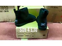 Brand new black micro boots size 4