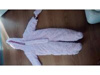 12-18 month Girls Pink Snowsuit