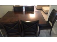 Harvey Norman dining table and 6 chairs