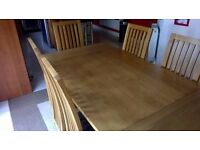 Solid Oak 6 Seater Dining Table