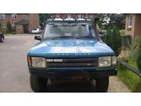 LAND ROVER DISCOVERY 2.5 TDI, 4X4 MODIFIED, HEAVY DUTY BUMPERS AND SIDE RUNNERS RAISED + WHEELS !