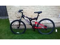 mountain bike RED 3months old 5x used perfect condition