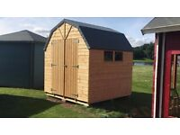 8ft x 8ft American Barn like Style Garden Shed