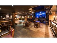 Bar Staff, Waiting Staff and Kitchen Porter required for Stramash live music venue in Edinburgh.