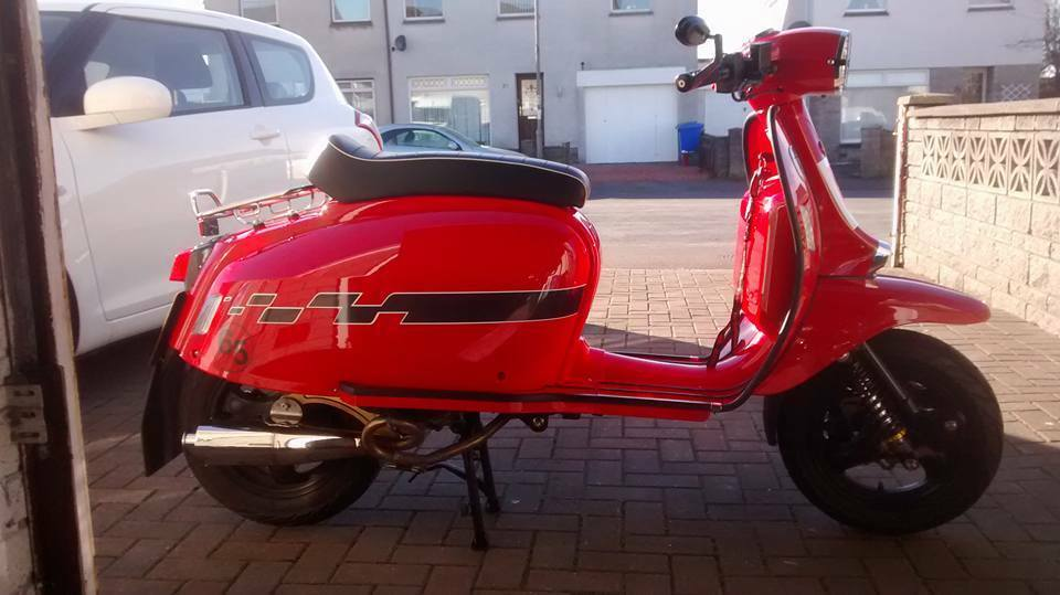 scomadi 125 cc scooter for sale in kilmarnock east. Black Bedroom Furniture Sets. Home Design Ideas
