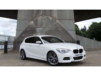 2013 63 BMW M135I AUTO 3.0 315 BHP 27K FSH WHITE RED LEATHER(PART EX WELCOME)***FINANCE AVAILABLE***