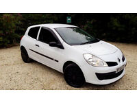 2008 58 Plate Renault Clio 1.2 Extreme in White Only 80,000 Miles Full Service History HPI Clear