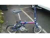 kentex folding bike unisex ideal commuting push bike bicycle
