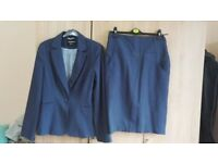 Navy blue size 12 atmosphere jacket & skirt suit