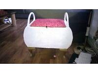lloyd loom stool with storage