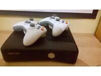 Xbox 360 slim 250GB+Games+2 joysticks