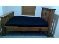 King size bed Chunky, Solid wood,(No mattress)