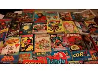 Large collection of Comics, Annuals, comic books wide range inc Beano, 2000AD, Jackie, Garfield, etc