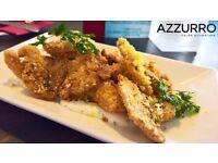 Sous chef needed! Azzurro restaurant- Portsmouth - Immediate Start- Progression- Holiday pay