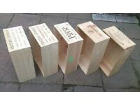 wooden wine boxes wood crates storage box