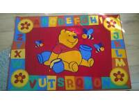 Winnie the pooh alphabet rug