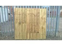 6ft x 6ft FEATHER EDGE FENCE PANEL PRESSURE TREATED TIMBER USED