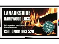 Quality seasoned hardwood logs