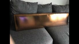 Copper shiny pelmet