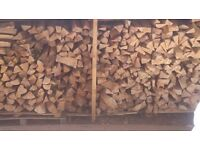 Great quality dried seasoned hardwood split logs - Free delivery within 15 miles