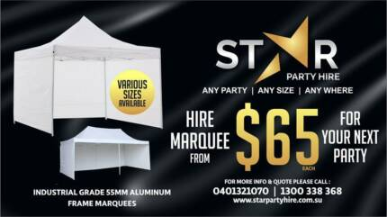 STAR PARTY HIRE * CHAIR * TABLE * MARQUEE * STAGE * TENT