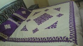 Patchwork Bed sheet (New, Unused)