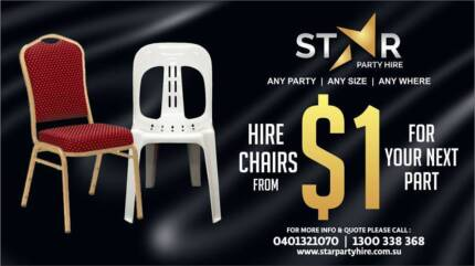 STAR PARTY HIRE * CHAIR * TABLE * MARQUEES * STAGE * TENTS *