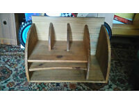 Wooden desk unit