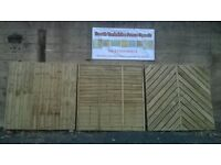 6ft x 6ft FENCE PANELS CHOICE OF STYLES AND DESIGNS LOADS TO CHOOSE FROM PRICES FROM £20.00