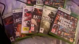 ONLY £65 XBOX 360 CONSOLE PLUS 8 GAMES BUNDLE INC COD 4 GTA BATTLEFIELD 3 RED DEAD REDEMPTION