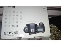 Canon 6D box, CD & instruction manual.