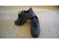"""Ladies """"Cotton Traders"""" black and green walking shoes"""