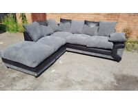 BRNAD NEW DINO JUMBO-CORD/LEATHER CORNER SOFA AVAILABLE IN 3+2 SOFA SET AS WELL