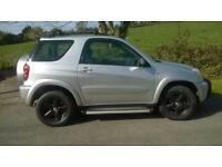 STUNNING TOYOTA RAV4 XT3 VVTI 4X4 3RD CHROME PACK MODEL, VERY LONG MOT LOOKING FOR A CAR SWAP