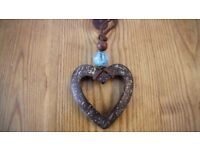Turquoise Heart Jewellery Set (Necklace and Earrings)