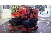 Zinc Roller Boots, Quad Skates, adjustable size 13-3 boxed, boy or girl