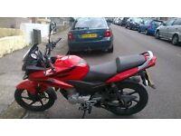 Honda CBF 125 2008 Red and Black