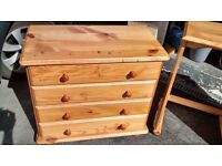 Solid pine drawers x3